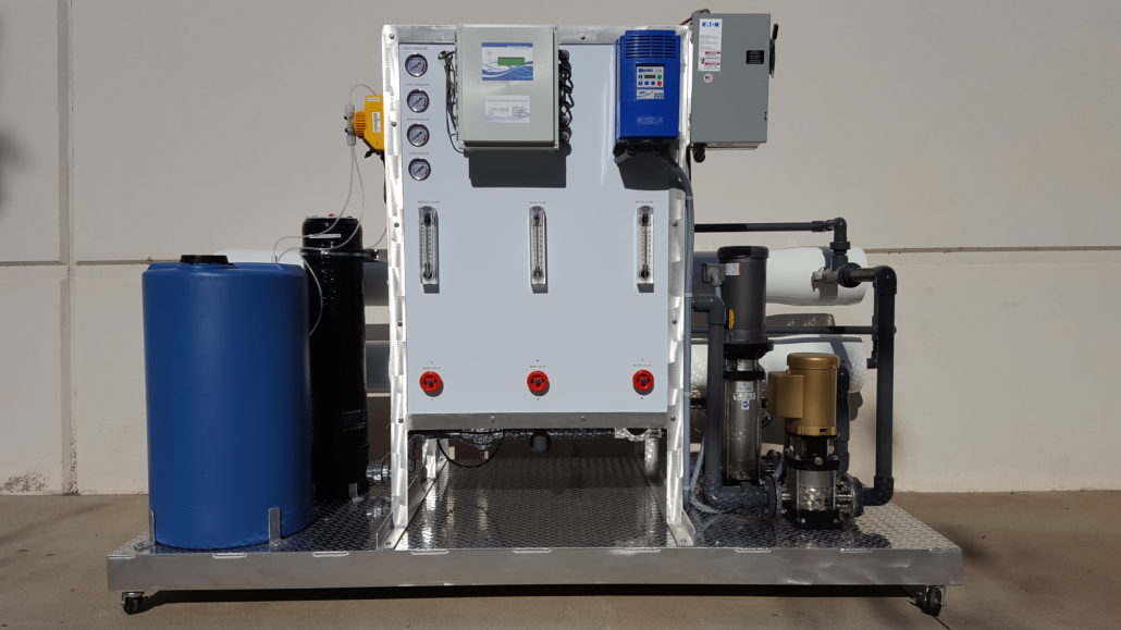 large commercial reverse osmosis water filtration system display