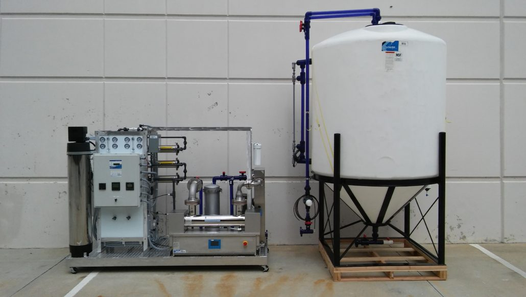 pure water treatment and tank