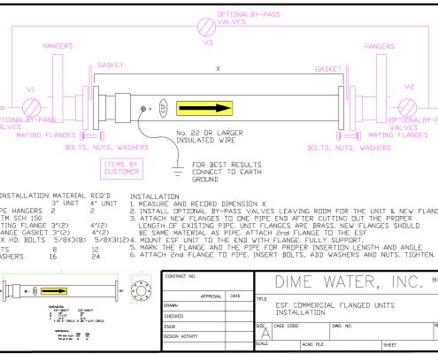 esf commercial flange unit diagram